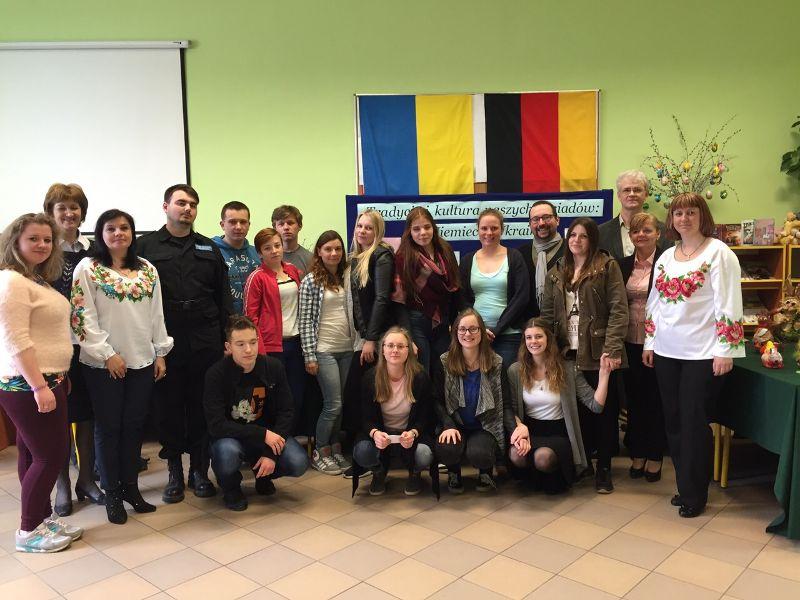 Gruppenbild: Schüleraustausch Polen 2015