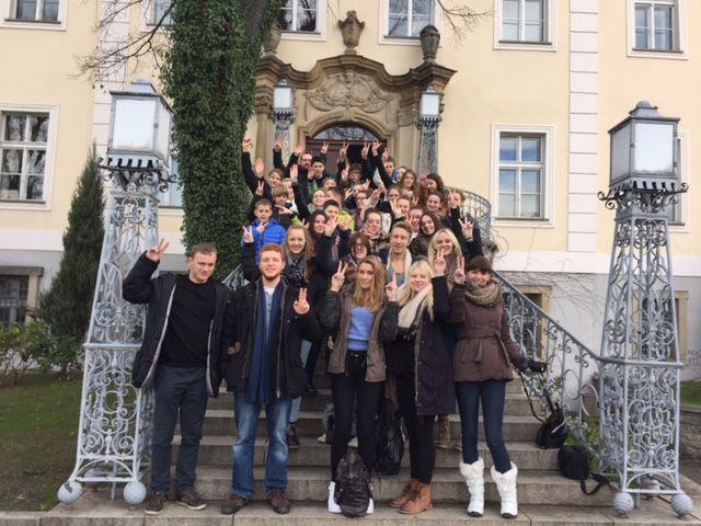 Gruppenbild: Schüleraustausch 2014