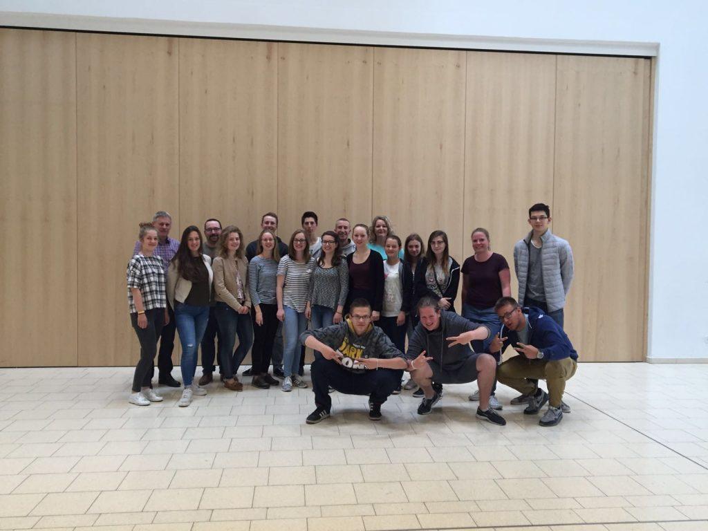Gruppenbild:Schüleraustausch 2016
