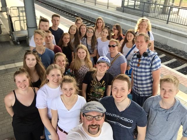 Gruppenbild Schüleraustausch 2017