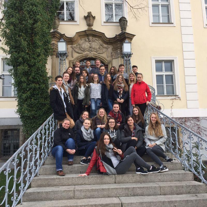 Gruppenbild: Schüleraustausch 2015