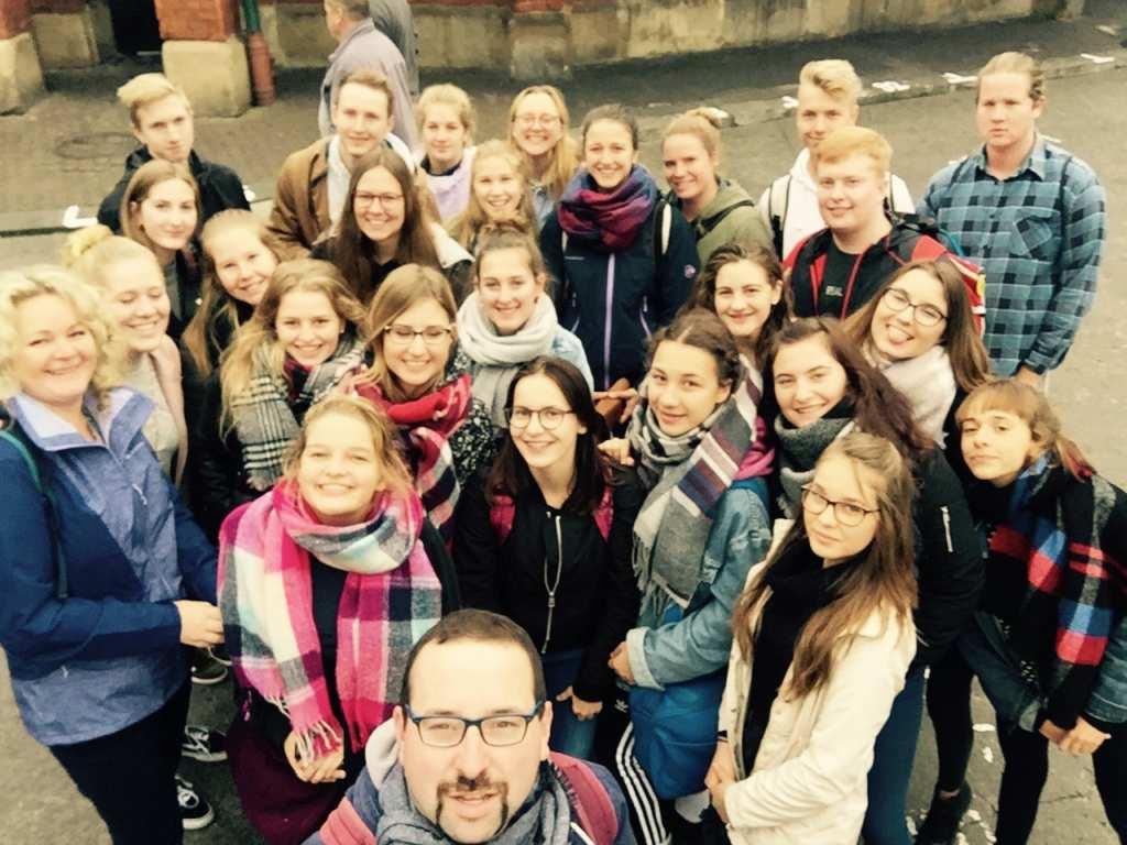 Gruppenbild: Schüleraustausch Polen 2017