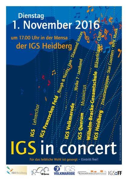 Flyer: IGS in concert
